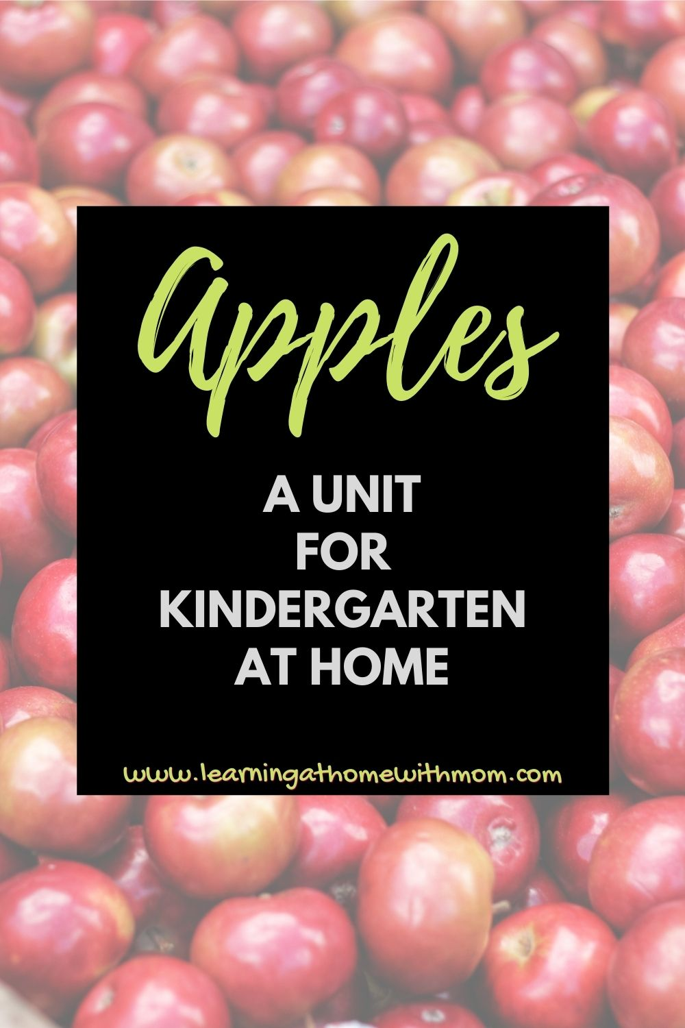 pin this apple unit for kindergarten