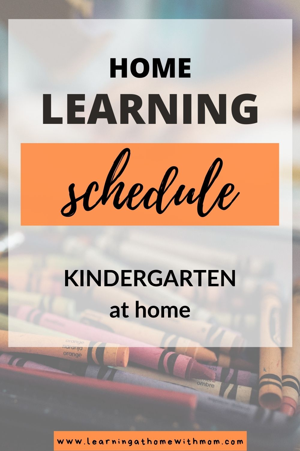 pin this home learning schedule for kindergarten at home