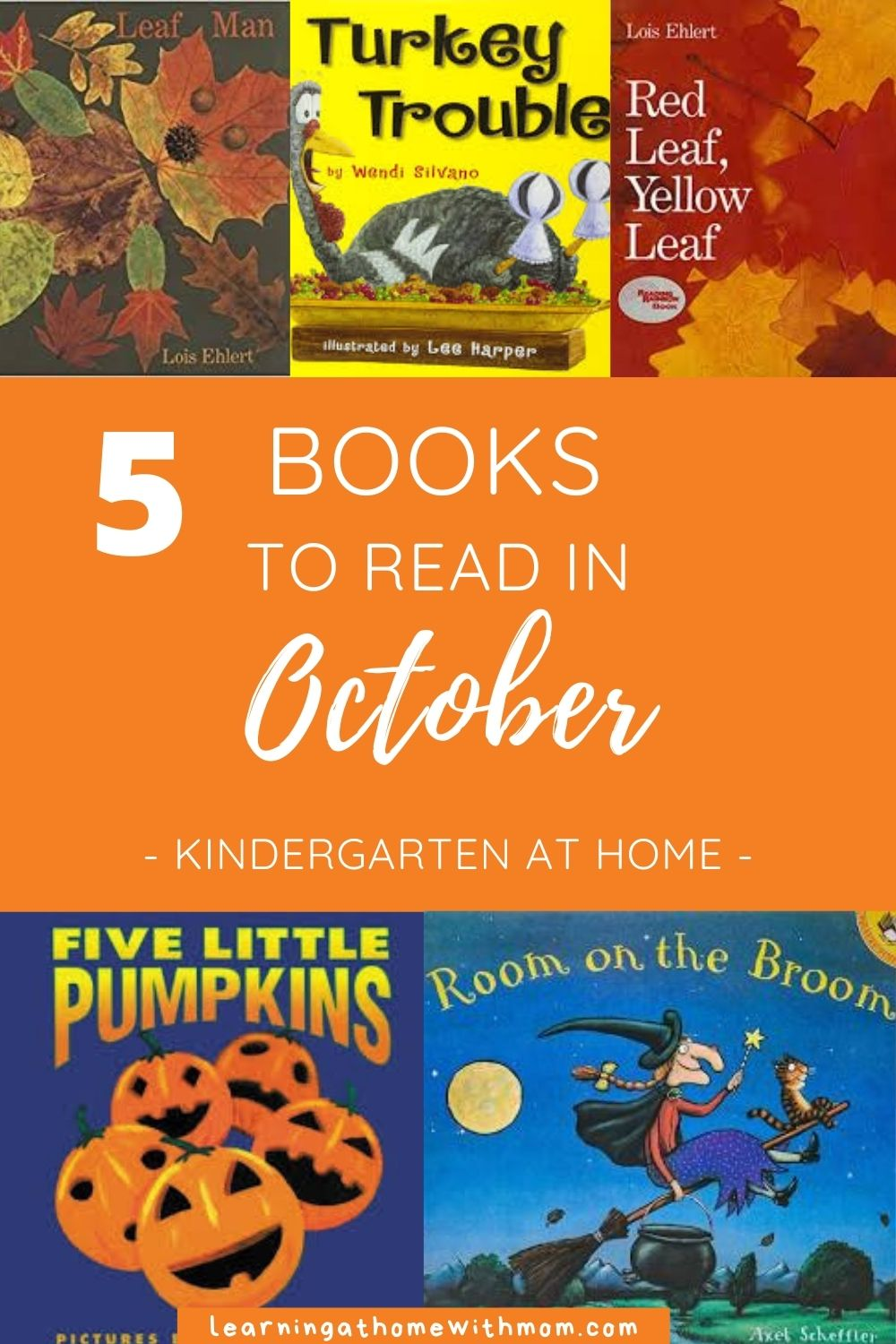 pin for books to read in october for kindergarten