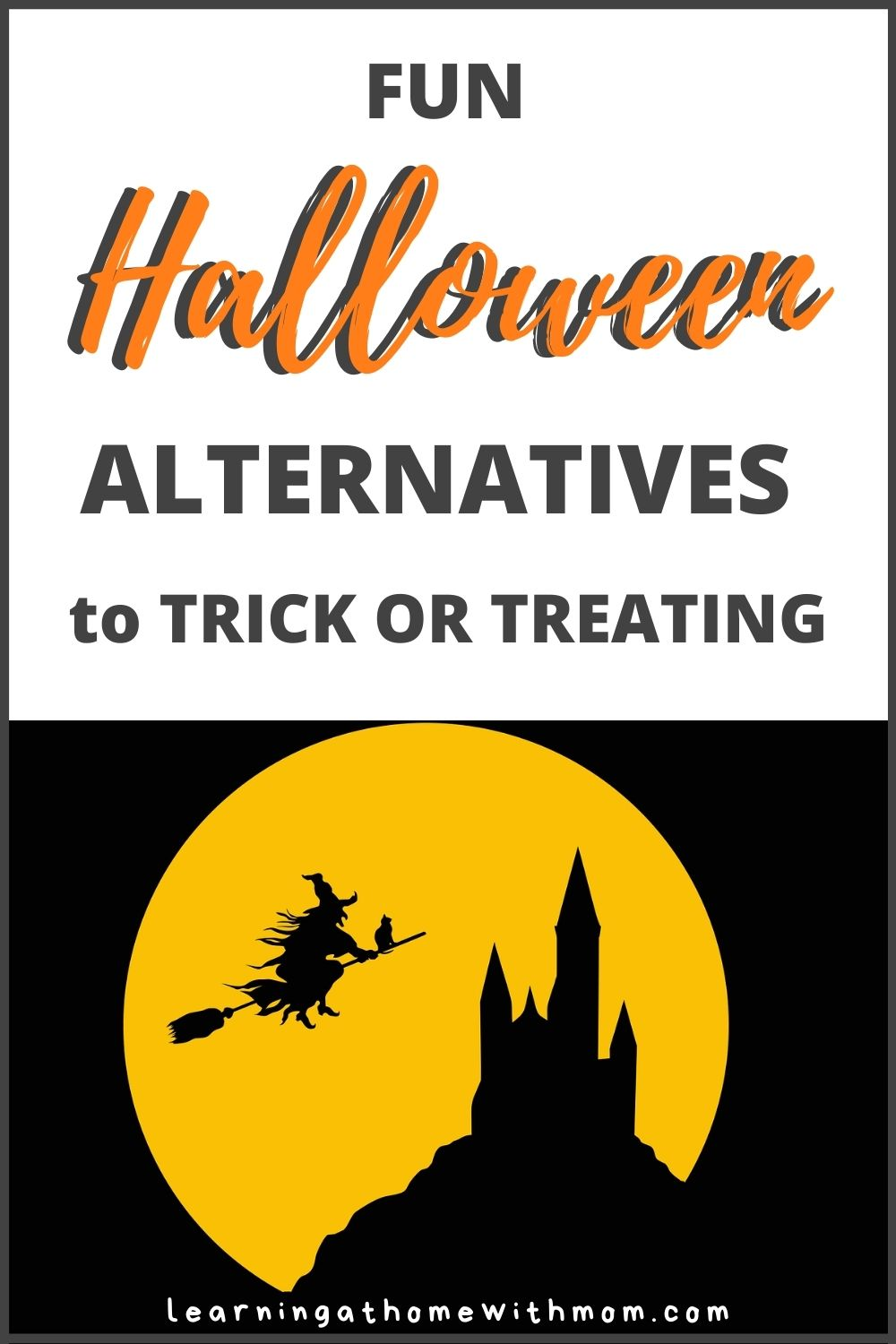 pin this post - fun Halloween alternatives to trick or treating