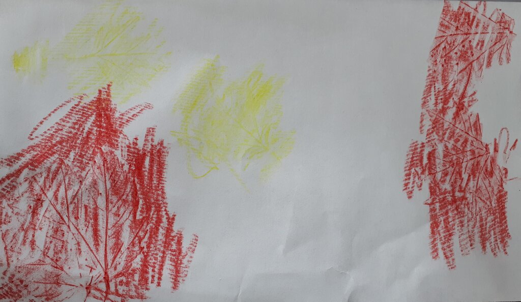 a classic thing to do in the fall with leaves is to make leaf rubbings