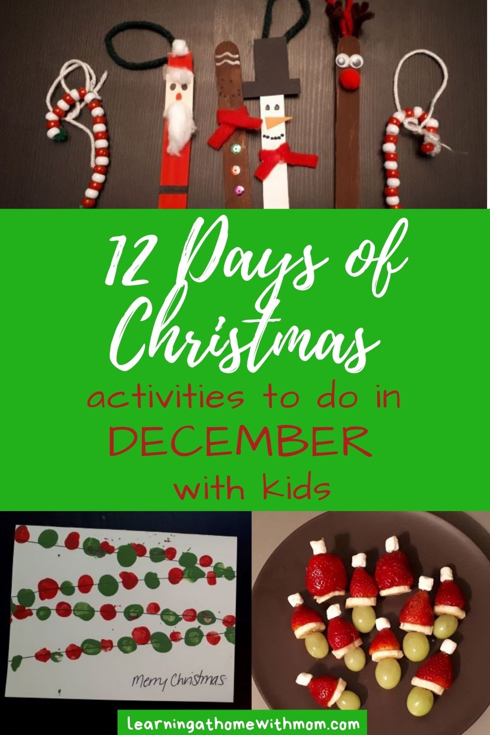 pin this post on activities to do in December with kids
