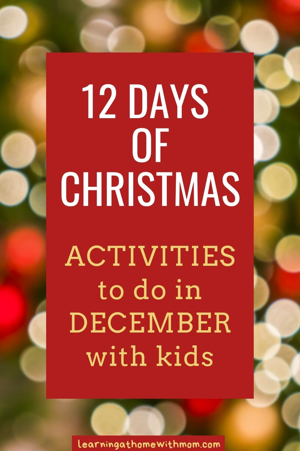 pin for activities to do in December with kids