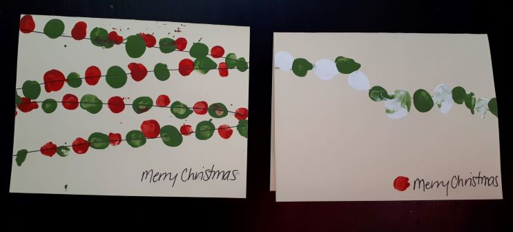 Fingerprint art is a great ideas and activities to do in December with kids