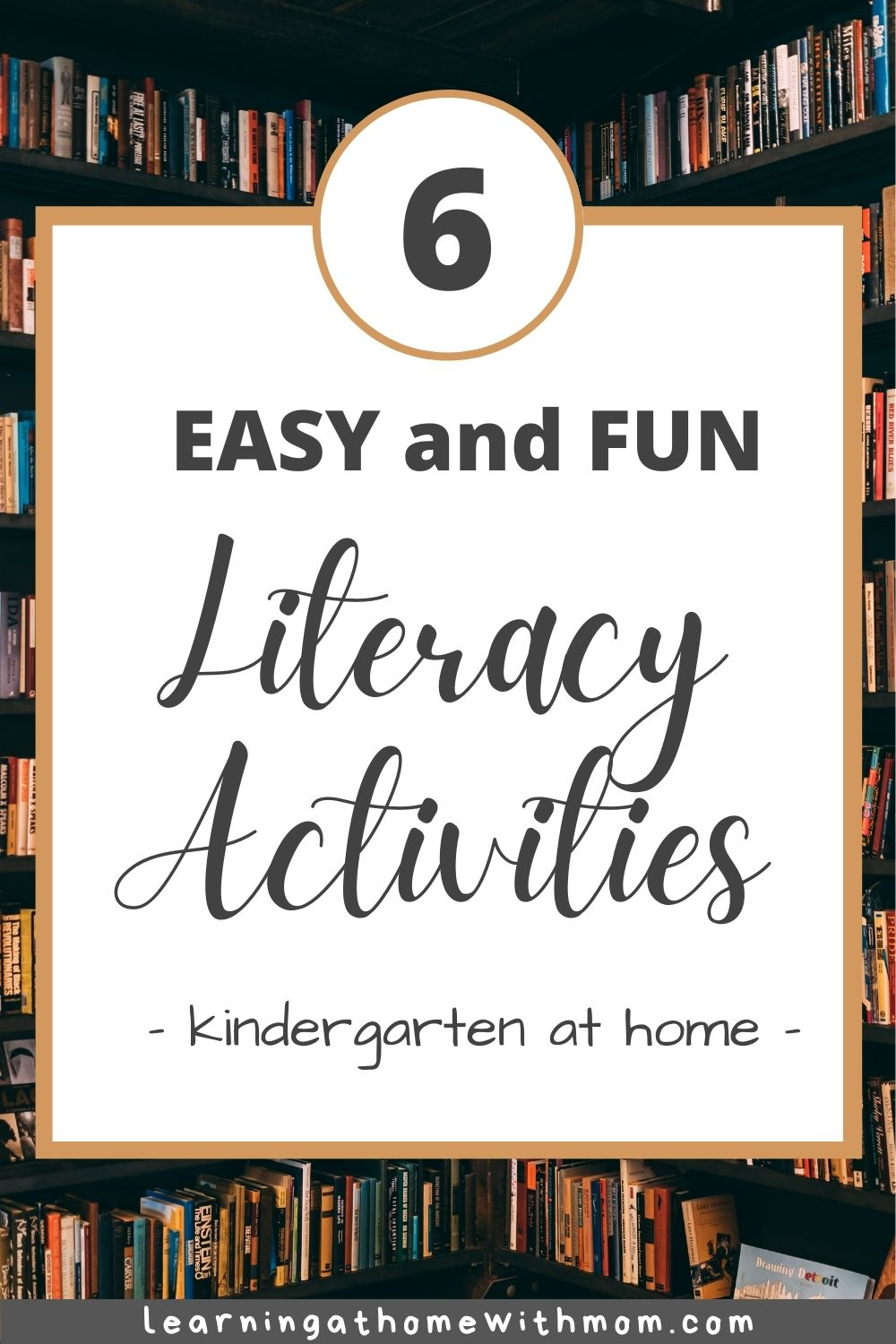 pin image for early literacy activities to do at home